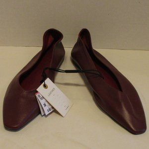 Zara Collection NWT Red Leather Flats Sz. 7.5